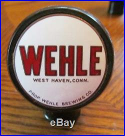 Vintage Wehle Beer Brewing Co Ball Tap Knob Handle West Haven Ct Conn