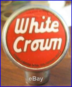 Vintage White Crown Beer Ball Tap Knob Handle Akron Brewingco Akron Oh Ohio