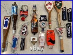 Vintage beer tap handles knobs- Miller, Budweiser, Bud Light, Pabst, Schlitz