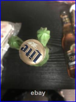 Vtg 1995 Miller Lite Beer 3-d Oasis High Life Cactus Tap Handle Tapper Knob