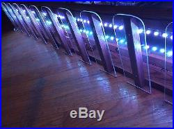 Wall Mounted Remote Led Lighted 29 Beer Tap Handle Display Beer Glass Display