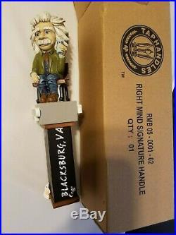 Wow Rare Right Mind Einstein Blacksburg New in Box 11 Draft Beer Keg Tap Handle