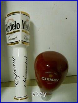 X11 Beer Tap Handles Rebel Brew Free or Die Modelo Angel City Chimay Rose Lot B
