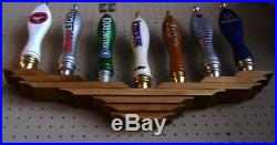 X2 Lot Of 2 Ea Beer Tap Handle Display Holds 7 Wall Mount