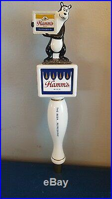 (l@@k) Hamms Beer Bear Tap Handle From The Beer Refreshing Hamm's Game Room Mib