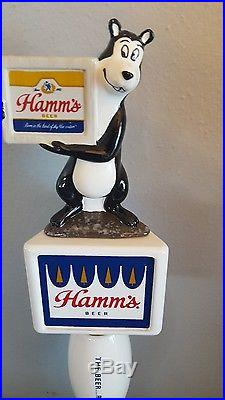 (l@@k) Hamms Beer Bear Tap Handle From The Beer Refreshing Hamm's New Style Mib