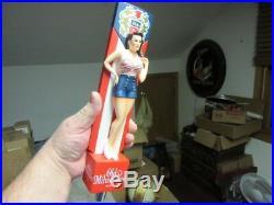 (new) Old Milwaukee Beer Tap Handle Knob Rare Pin Up Girl Keg Pull Bar Man Cave