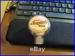 (vintage) Fauerbach Beer Brewing Ball Tap Knob Handle Madison Wi Wisconsin