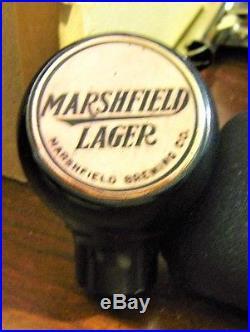(vintage) Marshfield Beer Brewing Ball Tap Knob Handle Marshfield Wi Wisconsin